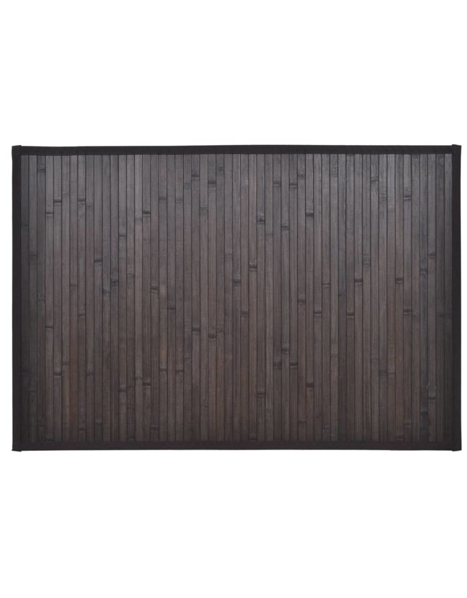 Badmatten 4 st 40x50 cm bamboe donkerbruin