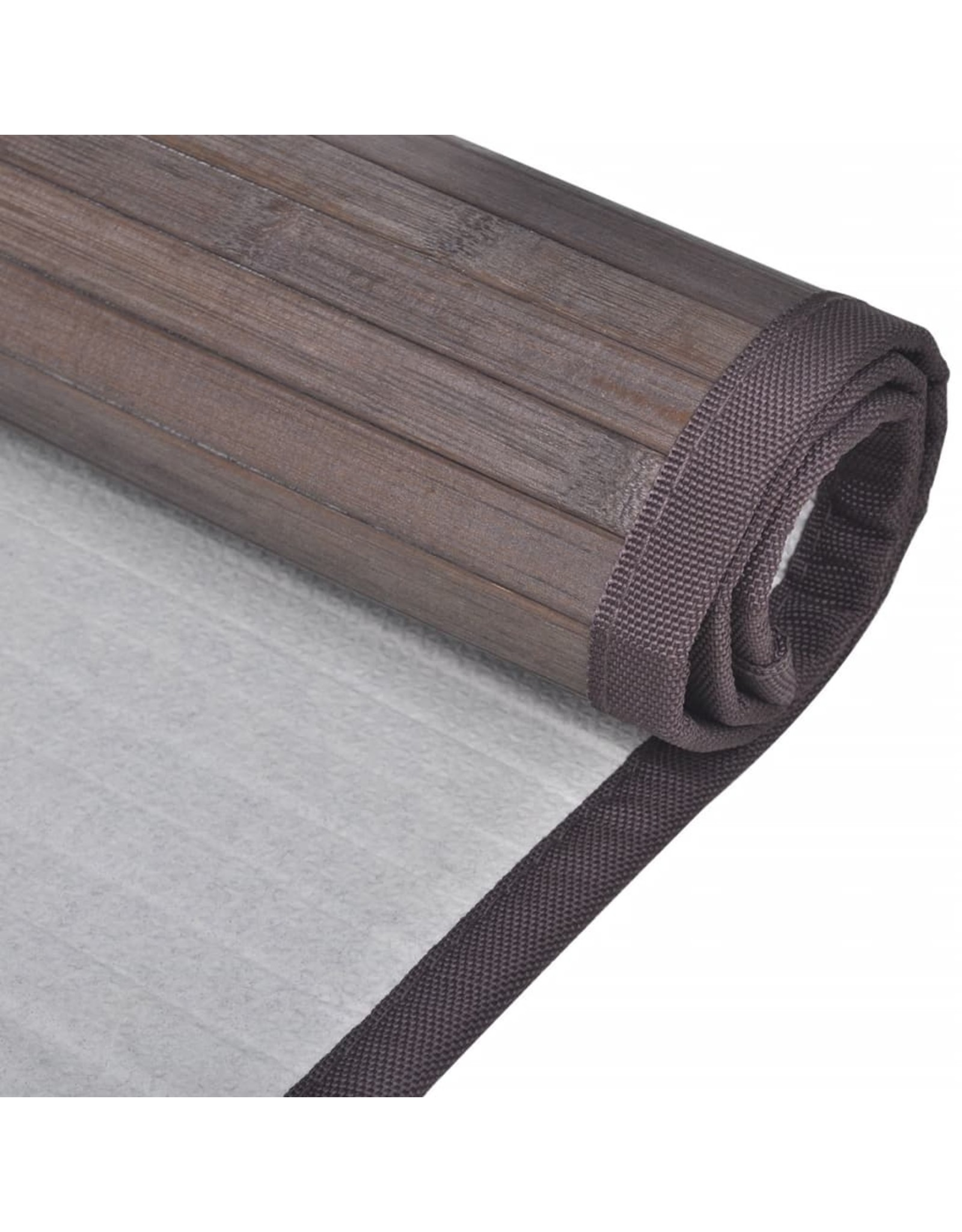 Badmatten 4 st 60x90 cm bamboe donkerbruin