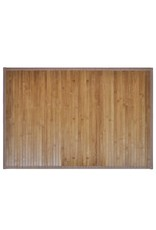 Badmatten 40x50 cm bamboe bruin 2 st