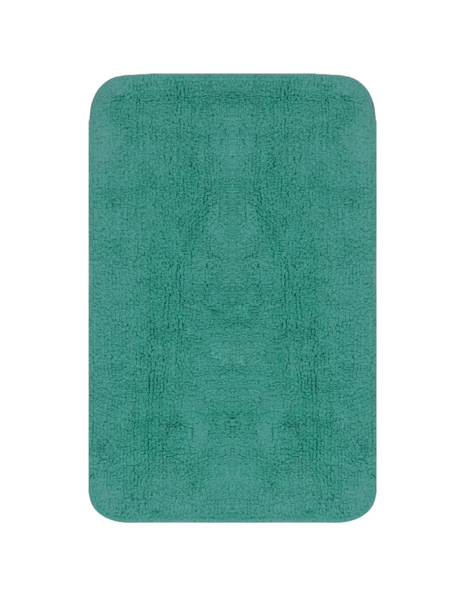 Badmattenset stof turquoise 2-delig