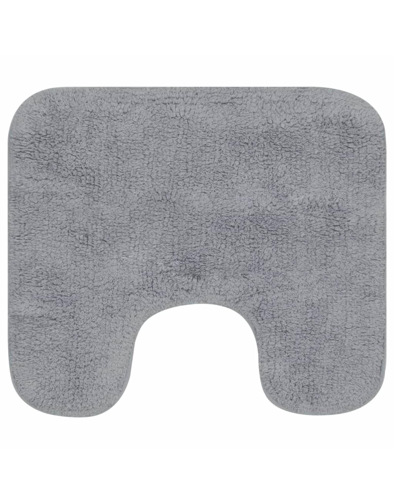 Badmattenset stof grijs 2-delig