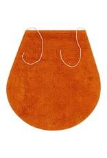 Badmattenset stof oranje 3-delig