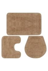 Badmattenset stof beige 3-delig