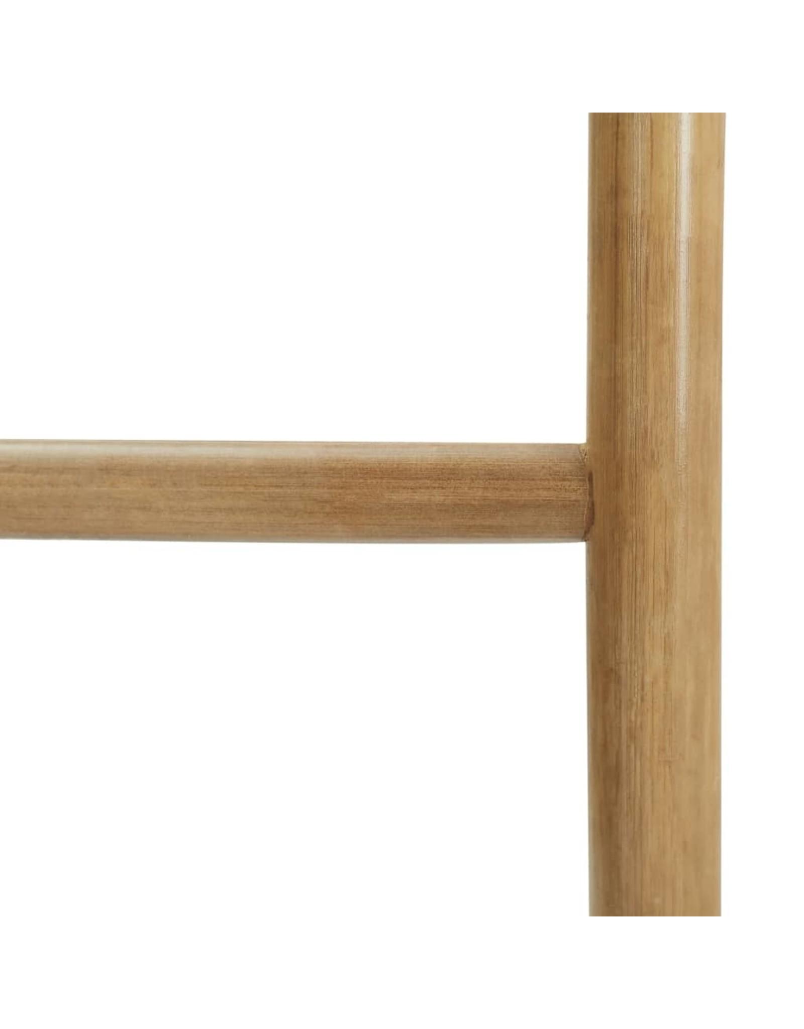 Handdoekladder met 5 sporten 170 cm bamboe