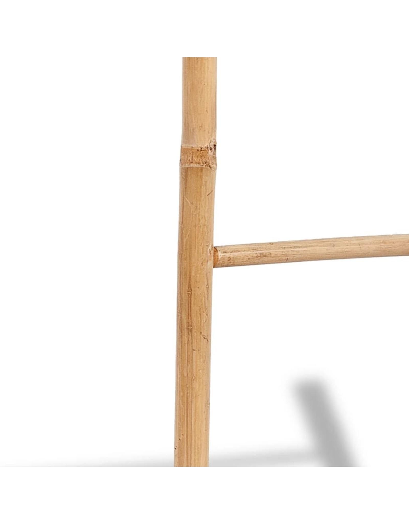 Handdoekenladder met 6 sporten bamboe
