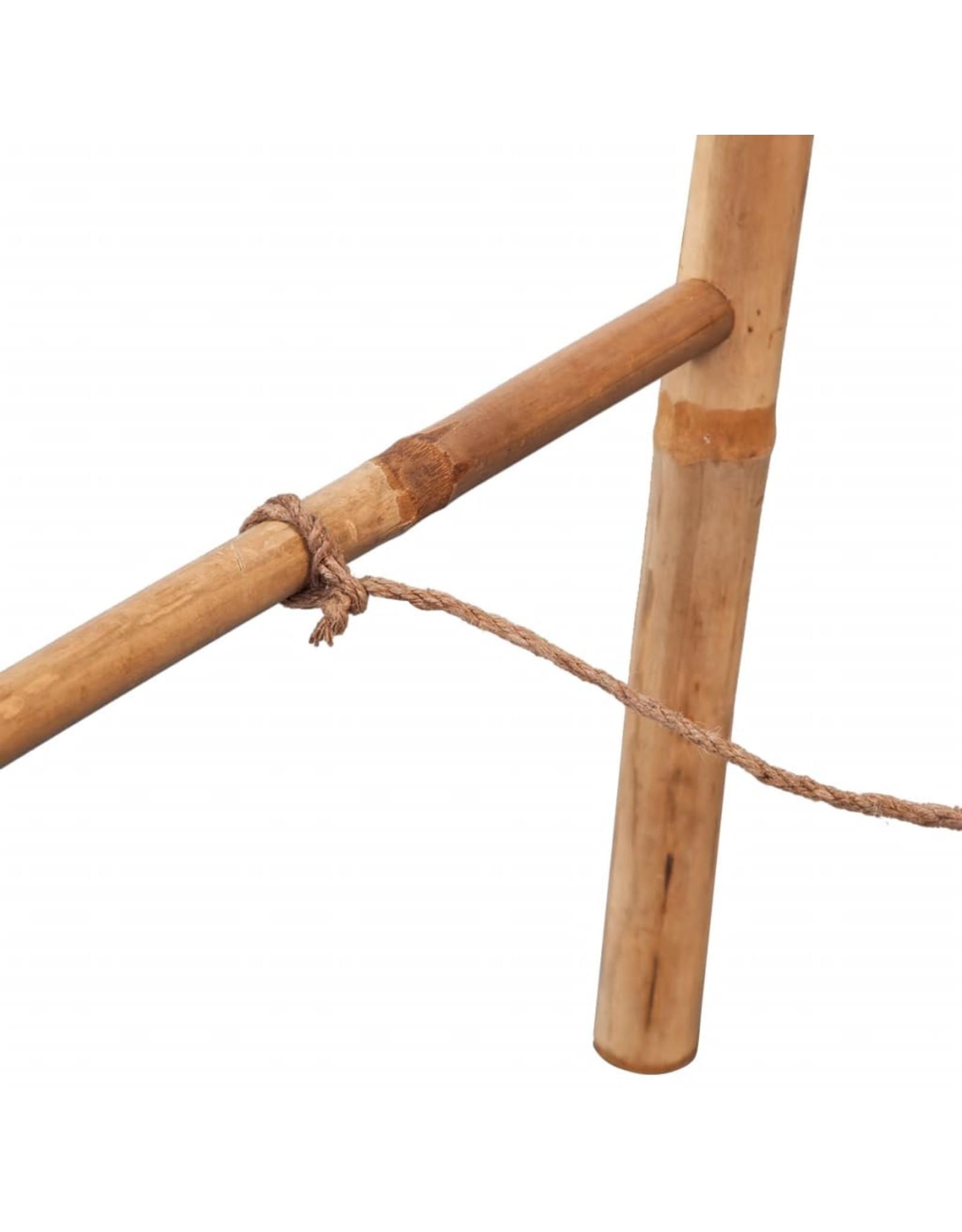 Dubbele handdoekenladder met 5 tredes 50x160 cm bamboe