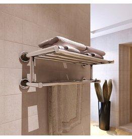 Handdoekenrek met 6 roedes roestvrij staal
