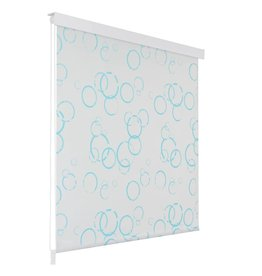 Rolgordijn voor douche 80x240 cm bubbel