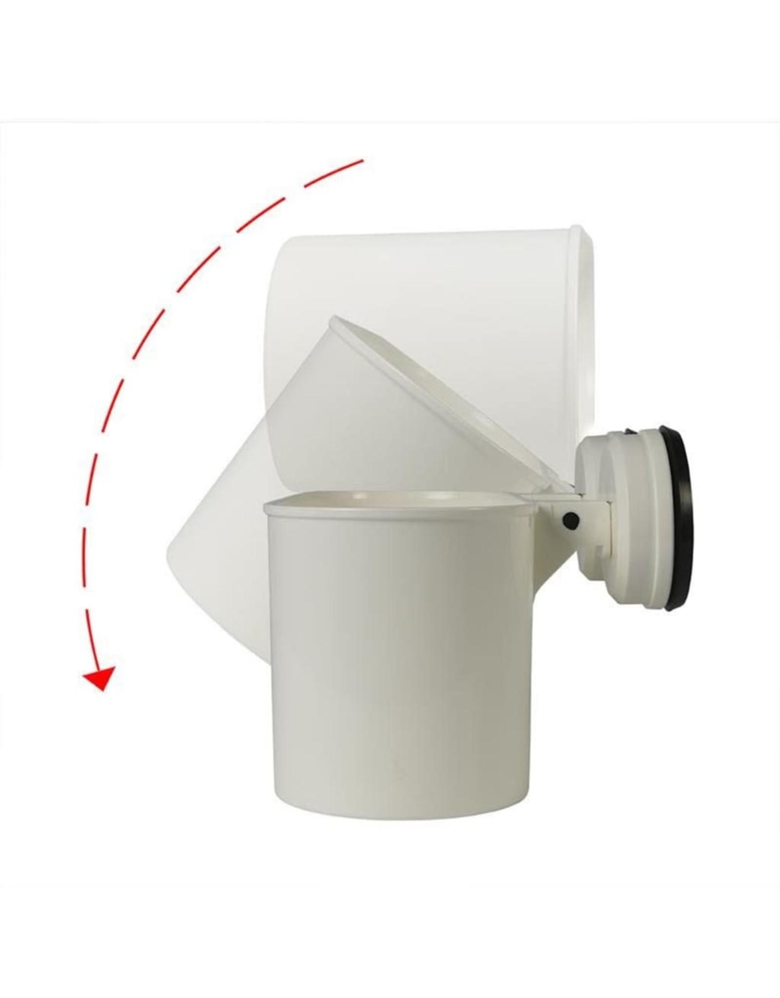Badkamerschap met zuignappen 6 kg kunststof wit