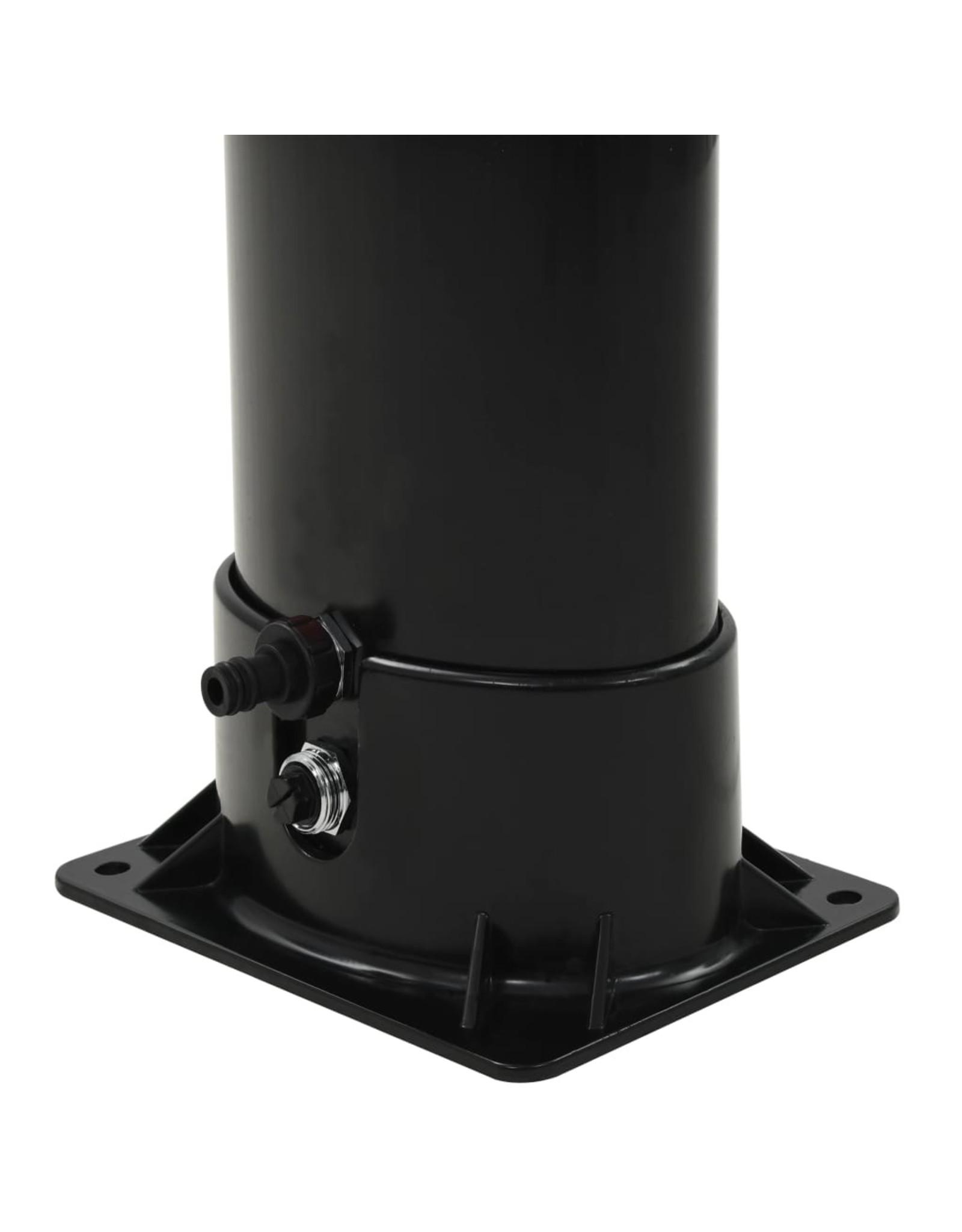 Solar douche 18 L 214 cm zwart
