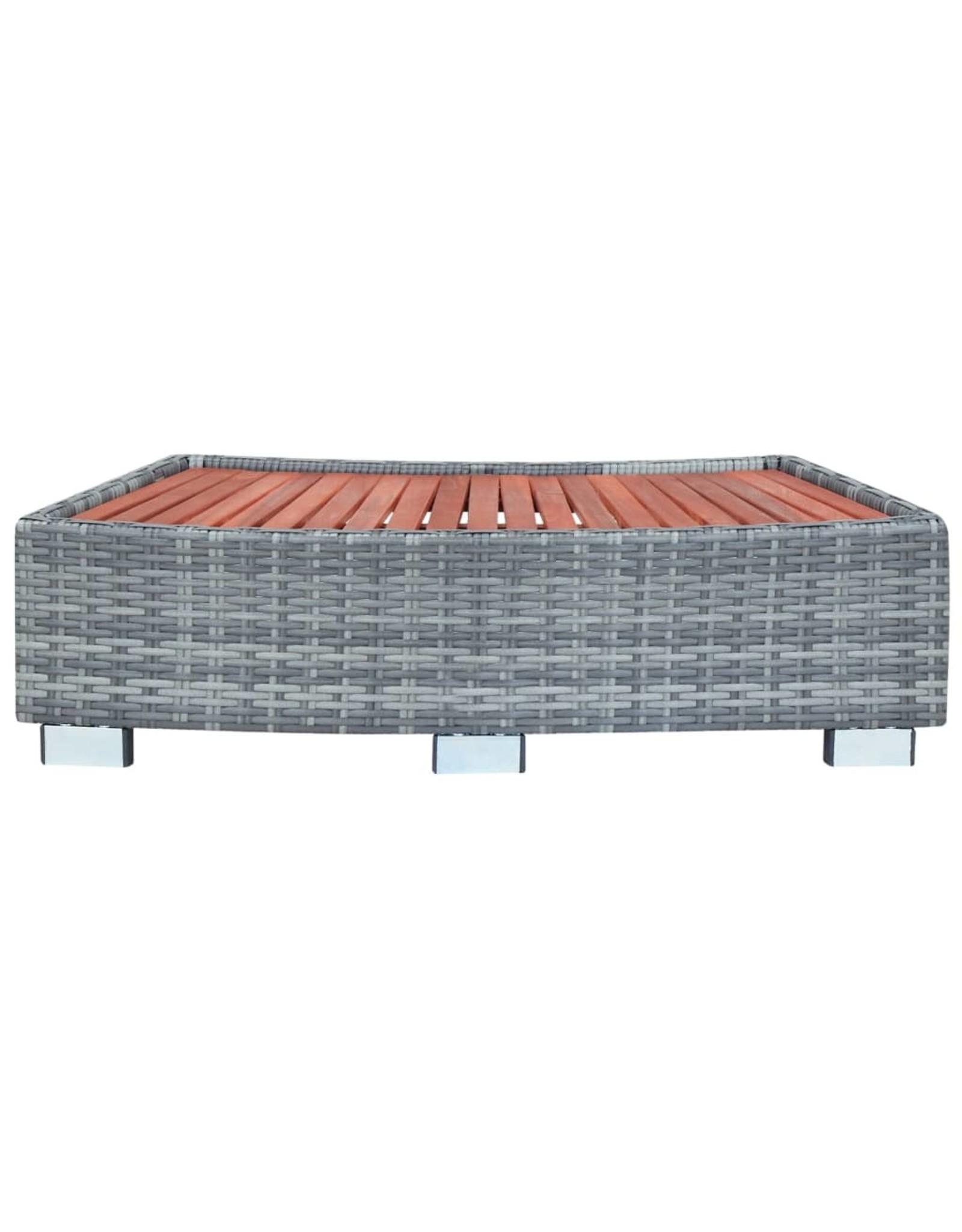 Spa trapje 92x45x25 cm poly rattan grijs