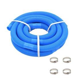 Zwembadslang met klemmen 38 mm 6 m blauw