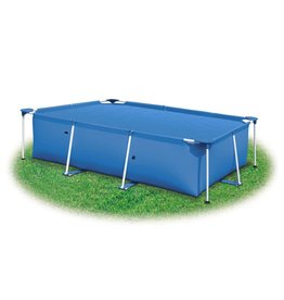 Zwembadhoes rechthoekig 800x500 cm PE blauw