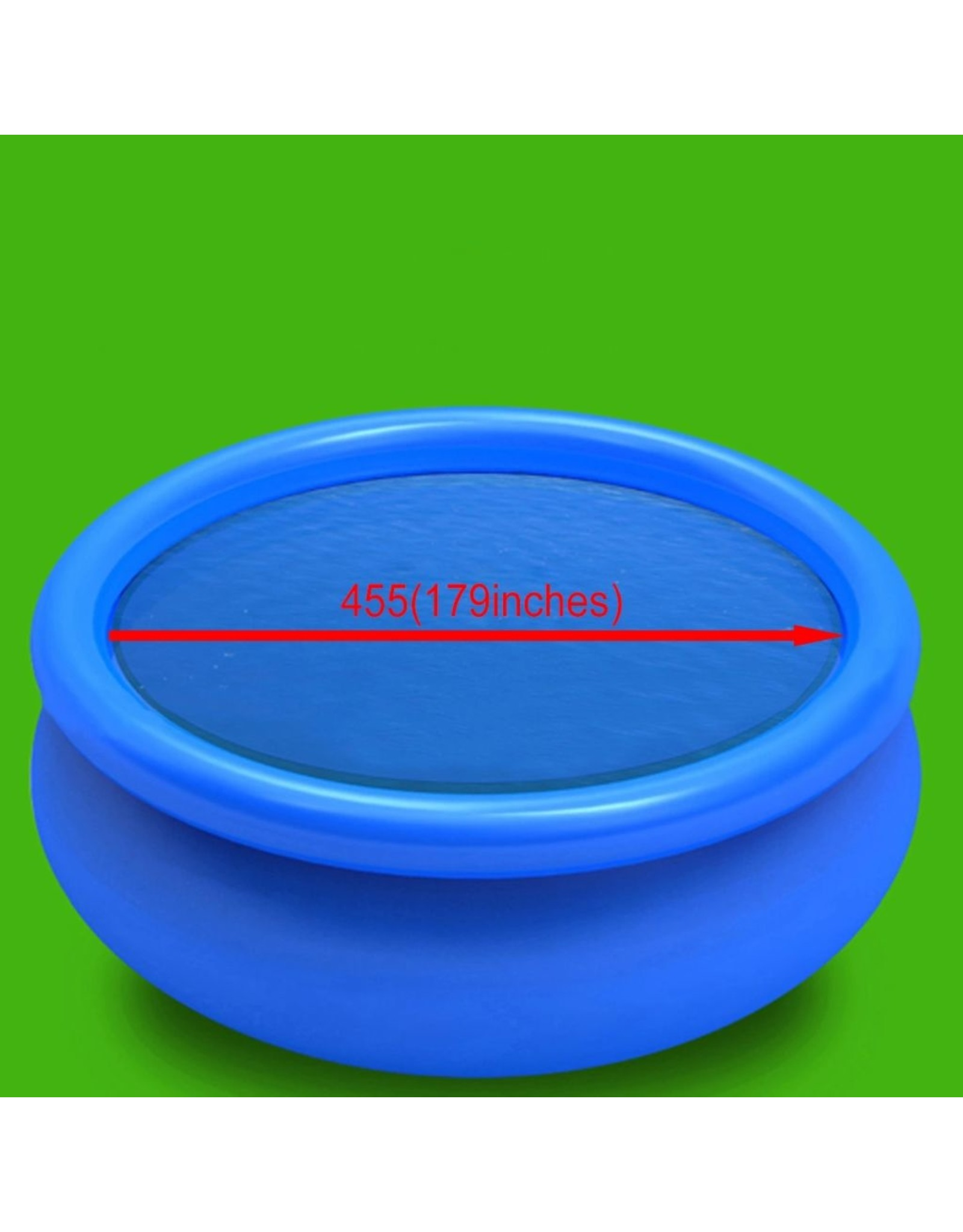 Solar zwembadfolie drijvend rond 455 cm PE blauw