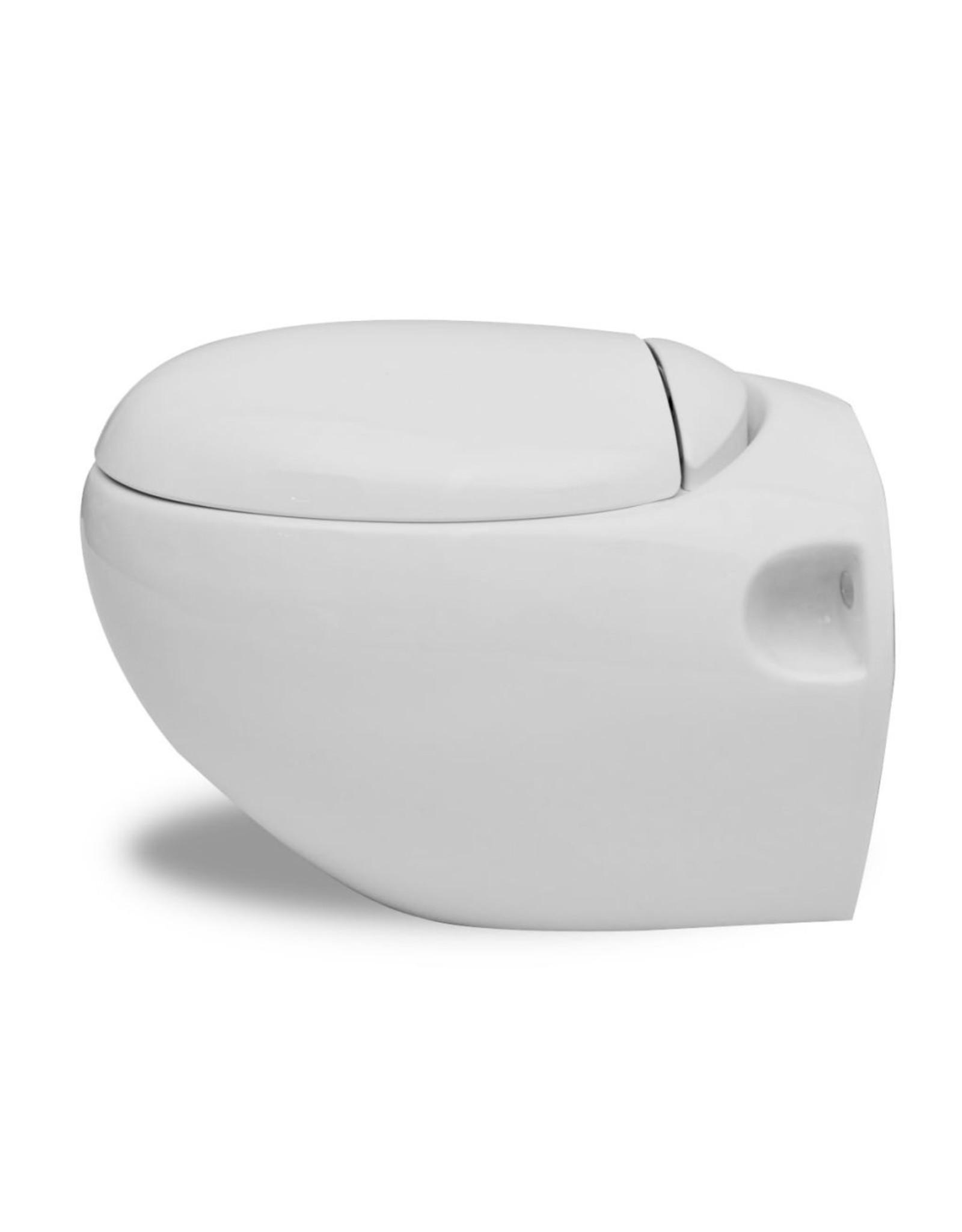 Nieuw Wandtoilet Ei-design hangend wit