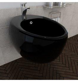 Keramieken wandbidet zwart