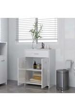 Badkamerkast 60x33x80 cm spaanplaat hoogglans wit