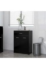 Badkamerkast 60x33x80 cm spaanplaat zwart