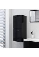 Badkamerkast 30x30x80 cm spaanplaat zwart