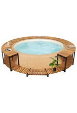 Spa-ombouw 273x53 cm massief acaciahout