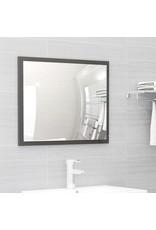 2-delige Badkamermeubelset spaanplaat hoogglans grijs