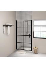 Douchedeur 100x178 cm gehard glas zwart
