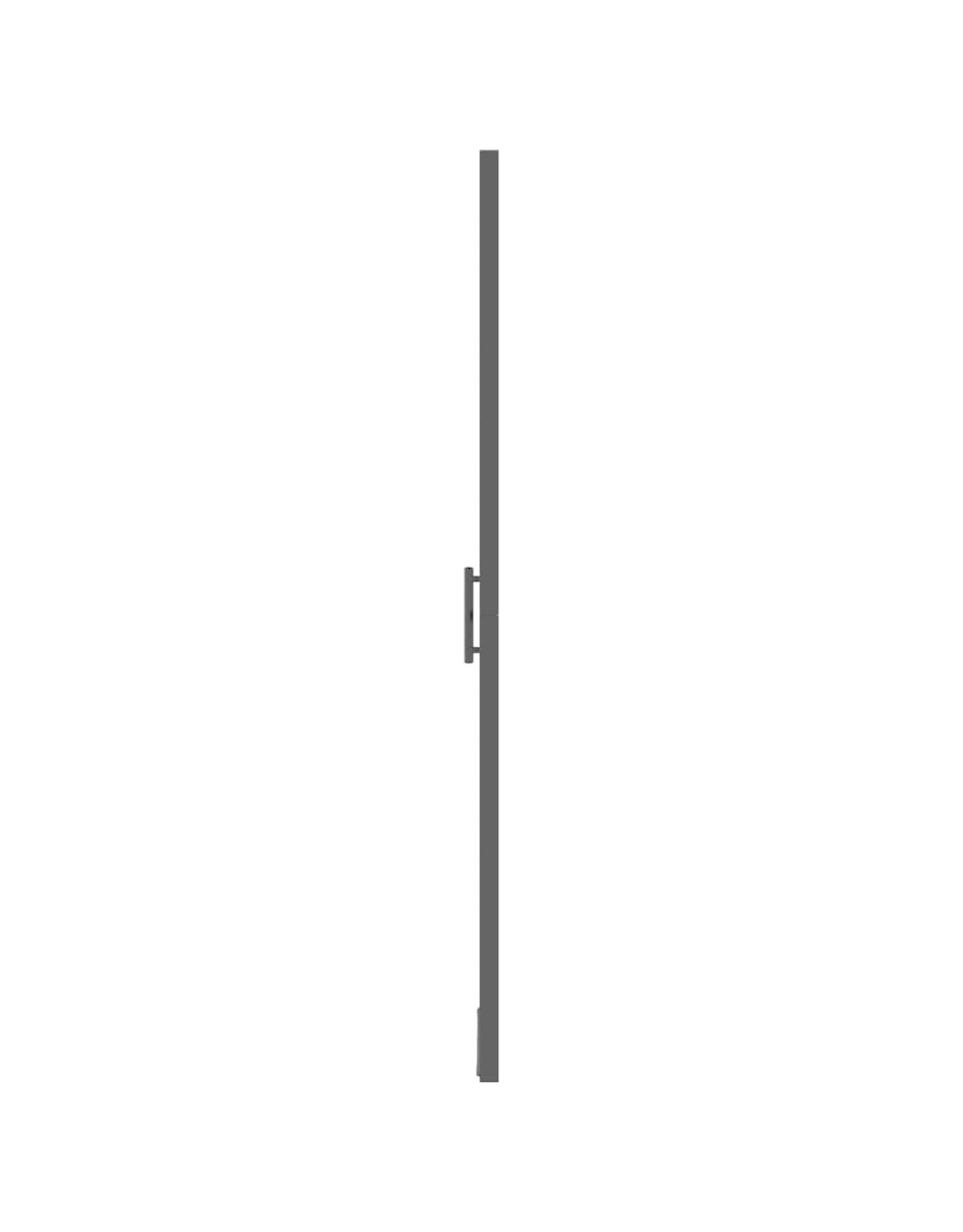 Douchedeur 91x195 cm gehard glas zwart
