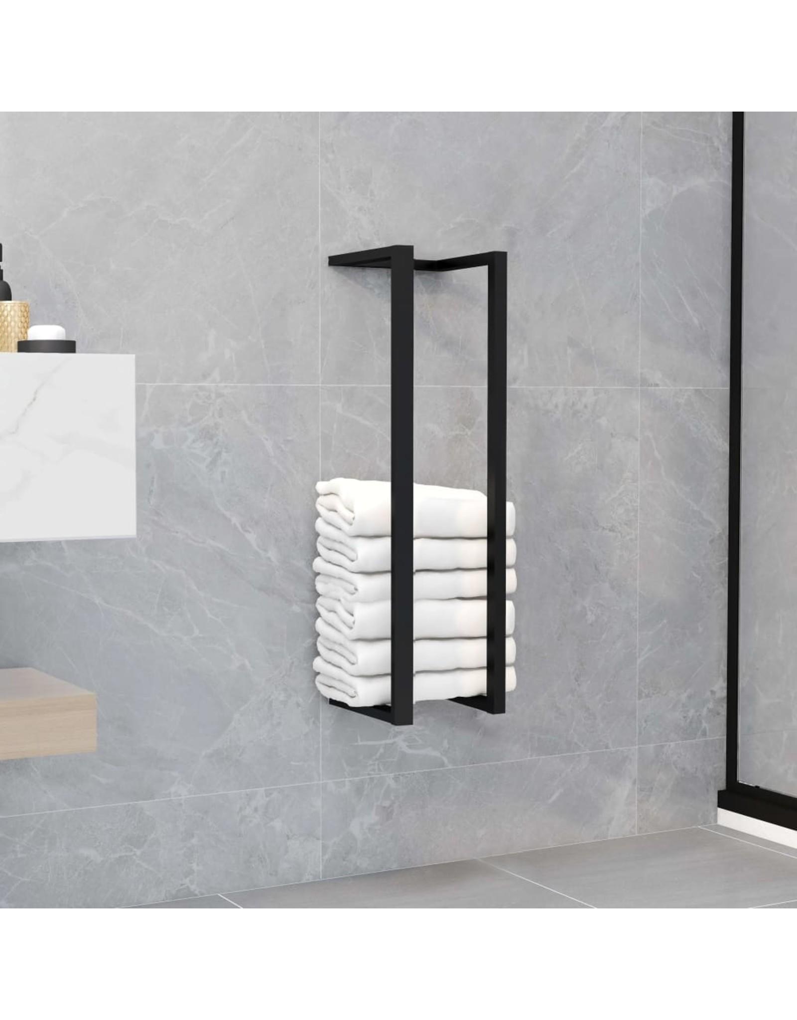 Handdoekenrek 12,5x12,5x60 cm ijzer zwart