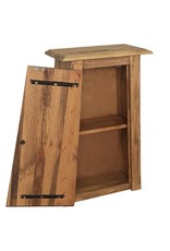 Badkamerwandkast 42x23x70 cm gerecycled massief grenenhout
