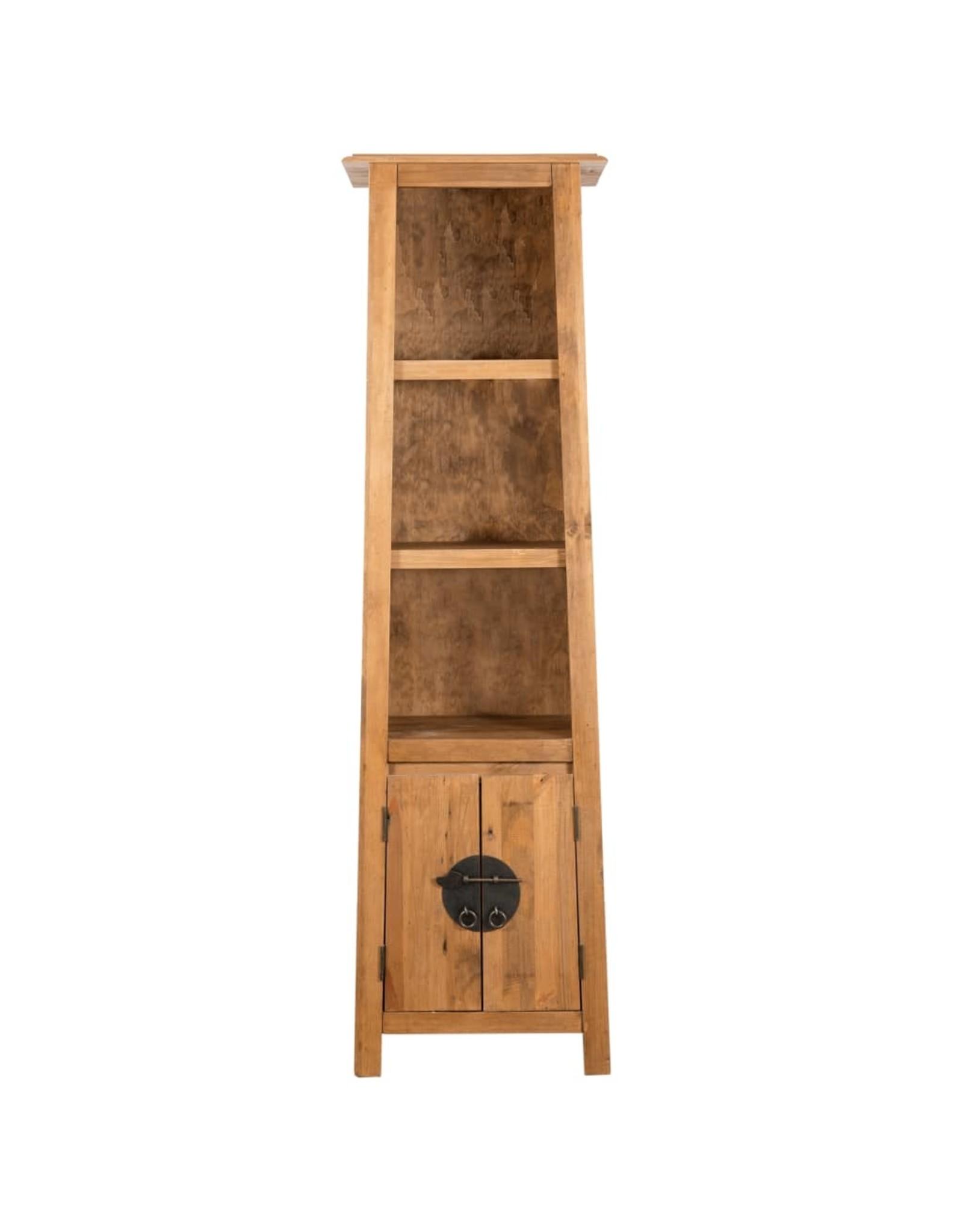 Badkamerkast vrijstaand 48x32x170 cm gerecycled grenenhout