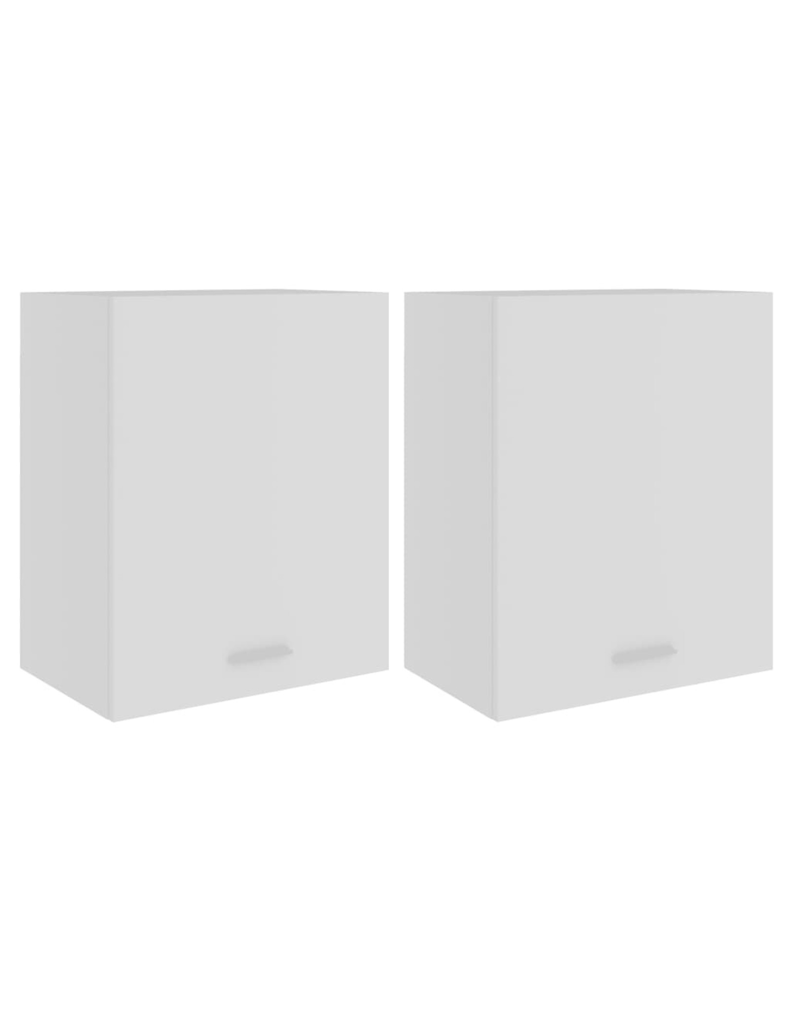 Hangkasten 2 st 50x31x60 cm spaanplaat wit