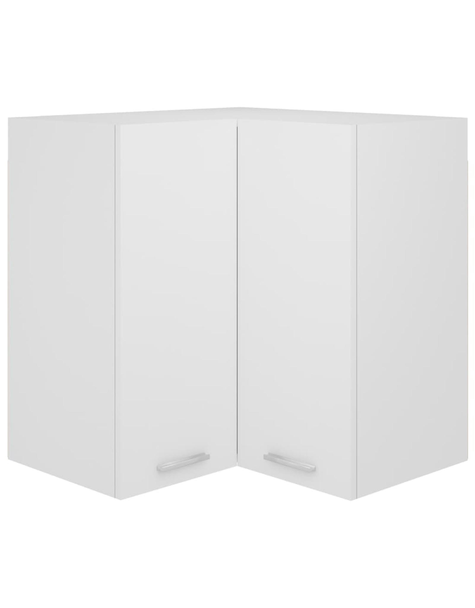 Hanghoekkast 57x57x60 cm spaanplaat wit