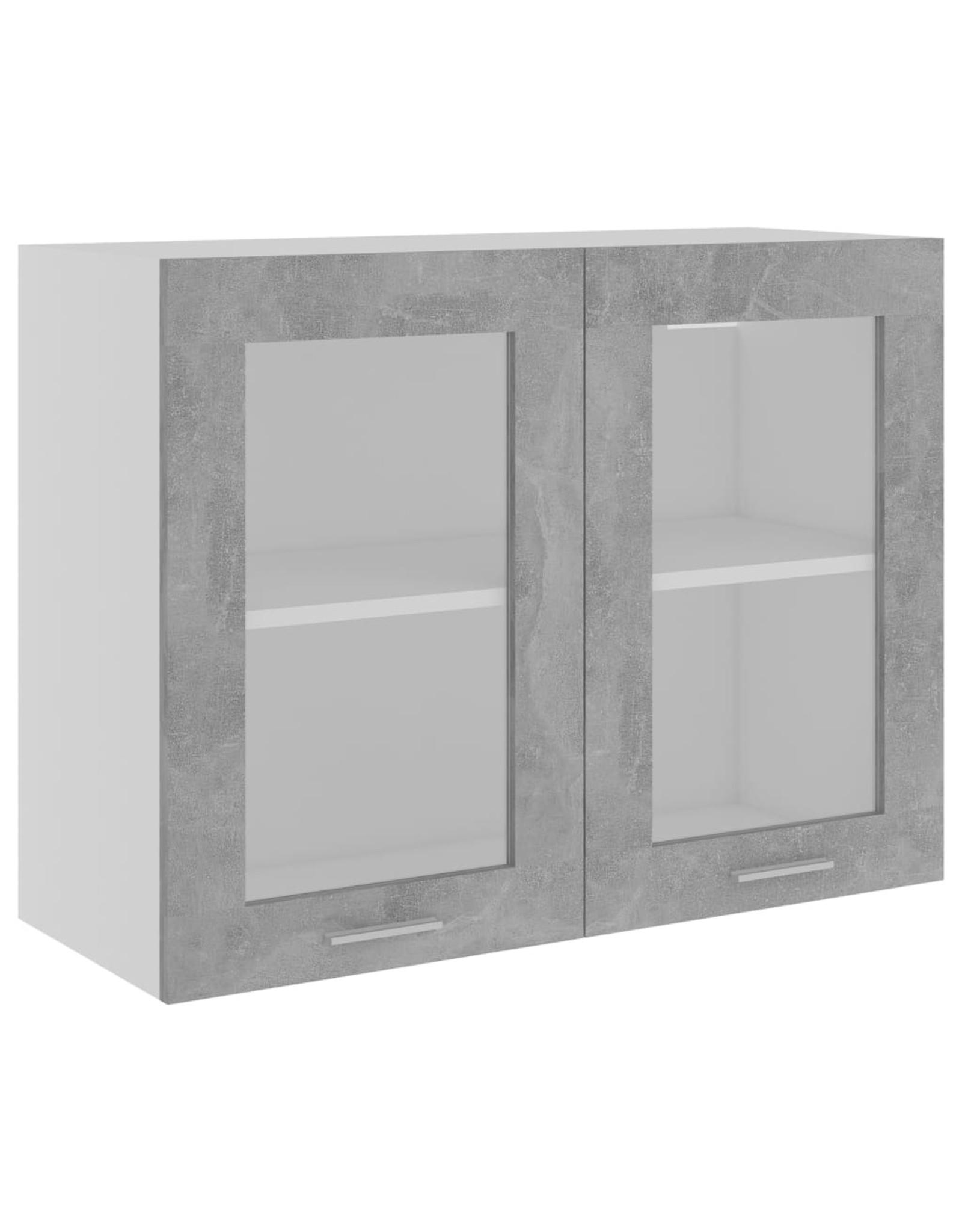 Hangkast 80x31x60 cm spaanplaat betongrijs