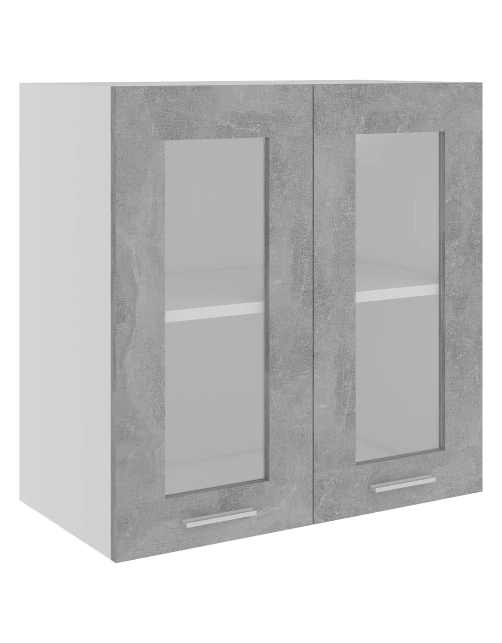 Hangkast 60x31x60 cm spaanplaat betongrijs
