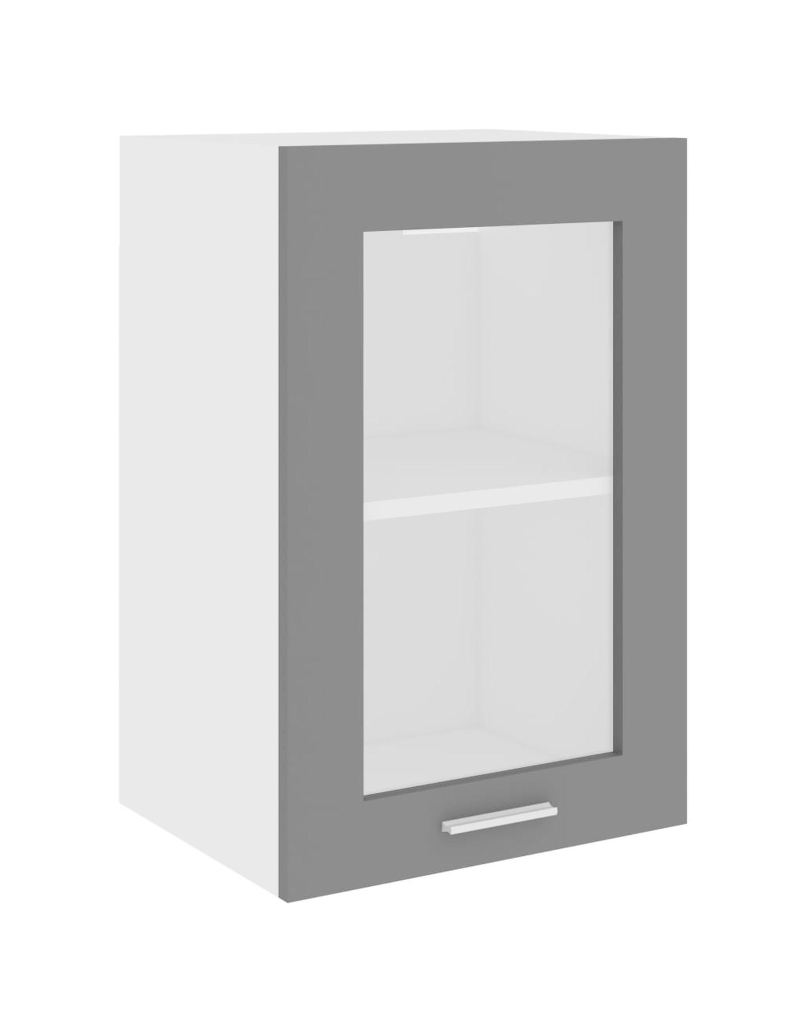 Hangkast 40x31x60 cm spaanplaat grijs