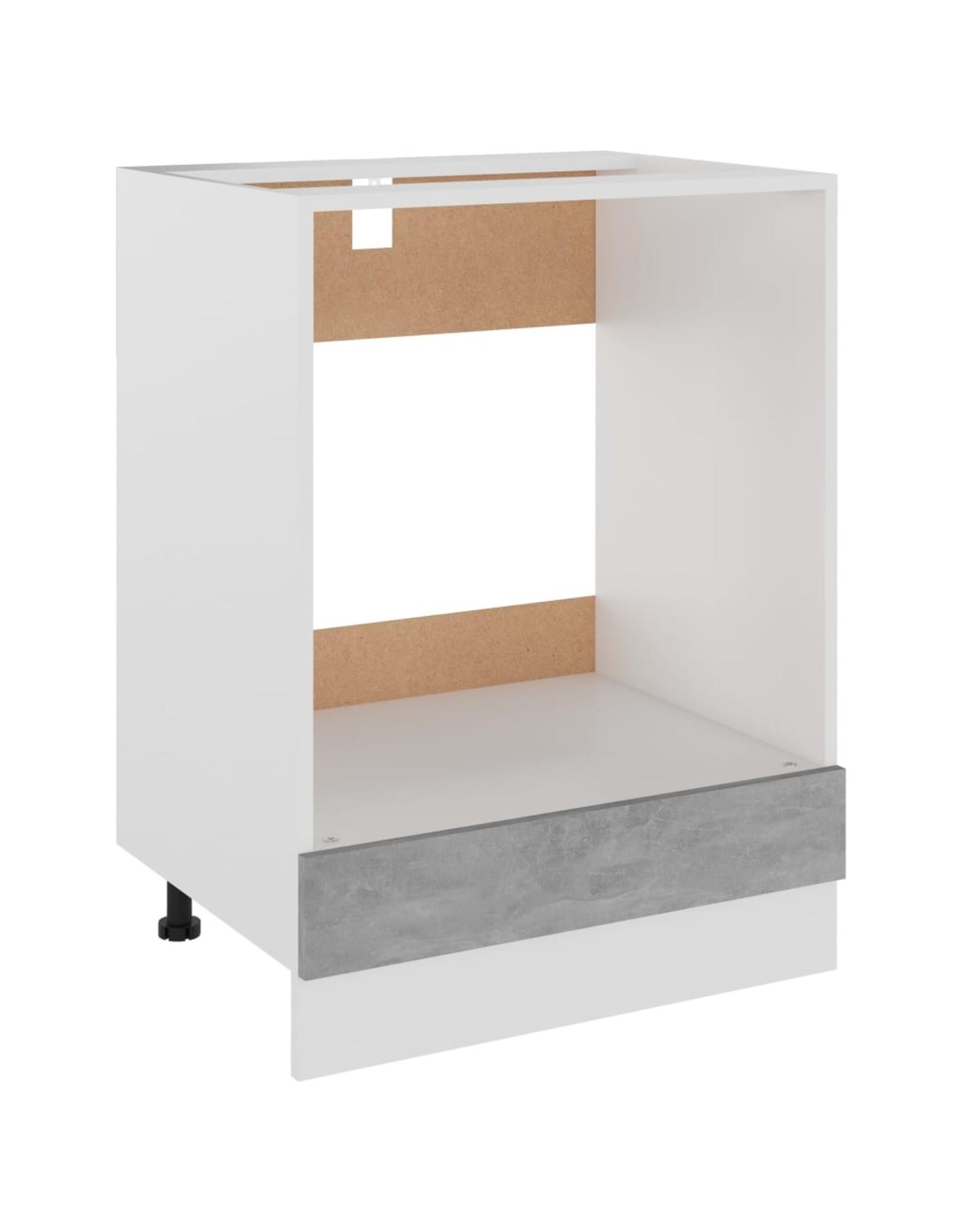 Ovenkast 60x46x81,5 cm spaanplaat betongrijs
