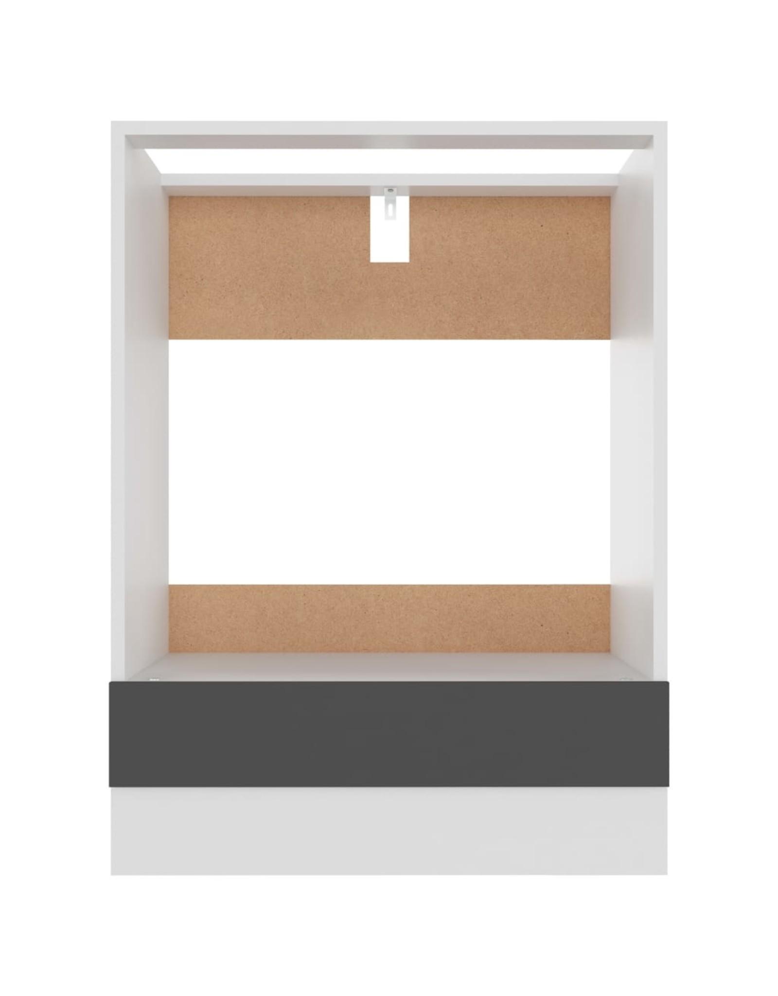 Ovenkast 60x46x81,5 cm spaanplaat grijs