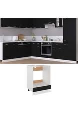 Ovenkast 60x46x81,5 cm spaanplaat zwart