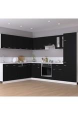 Hoekonderkast 75,5x75,5x80,5 cm spaanplaat zwart