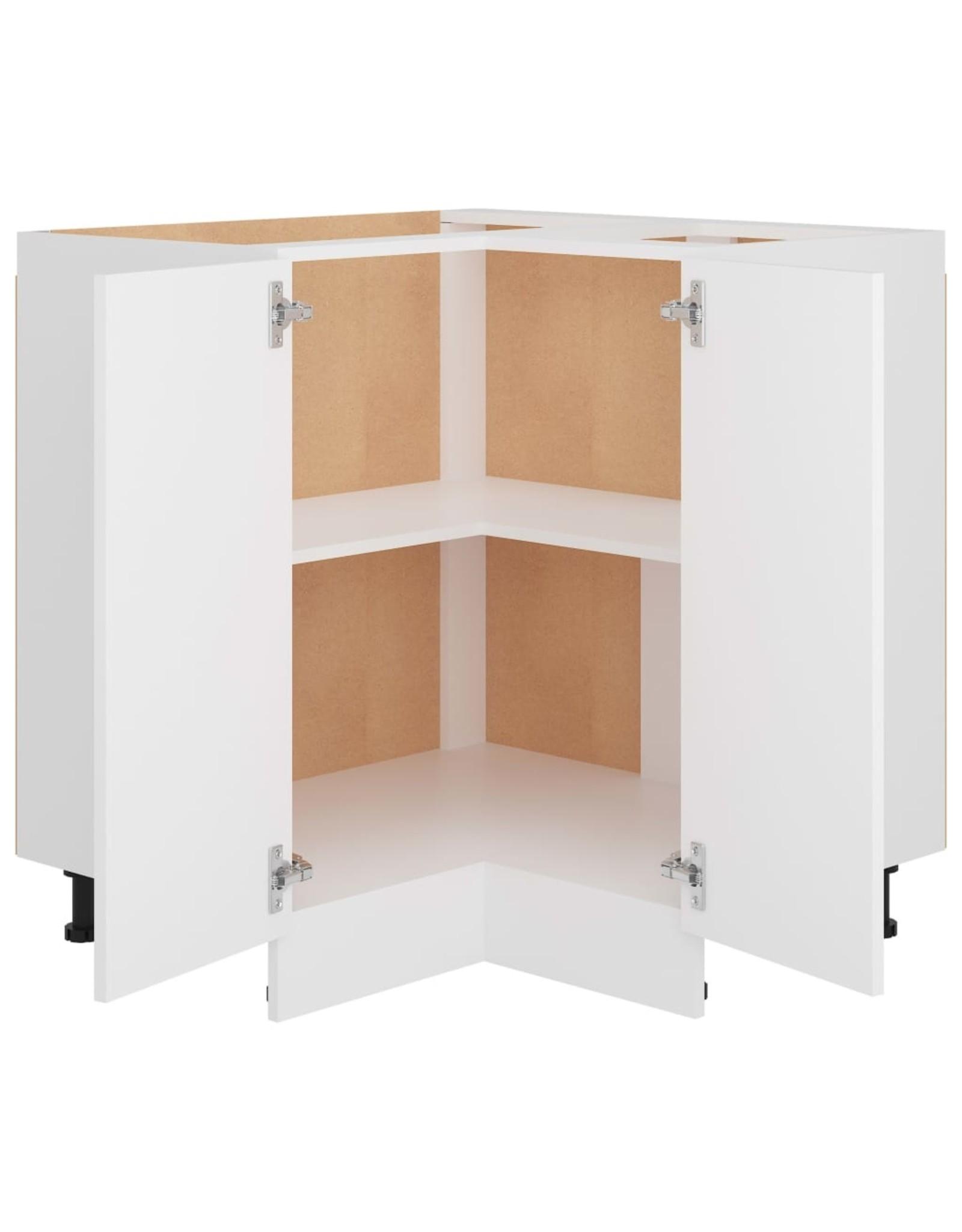 Hoekonderkast 75,5x75,5x80,5 cm spaanplaat wit