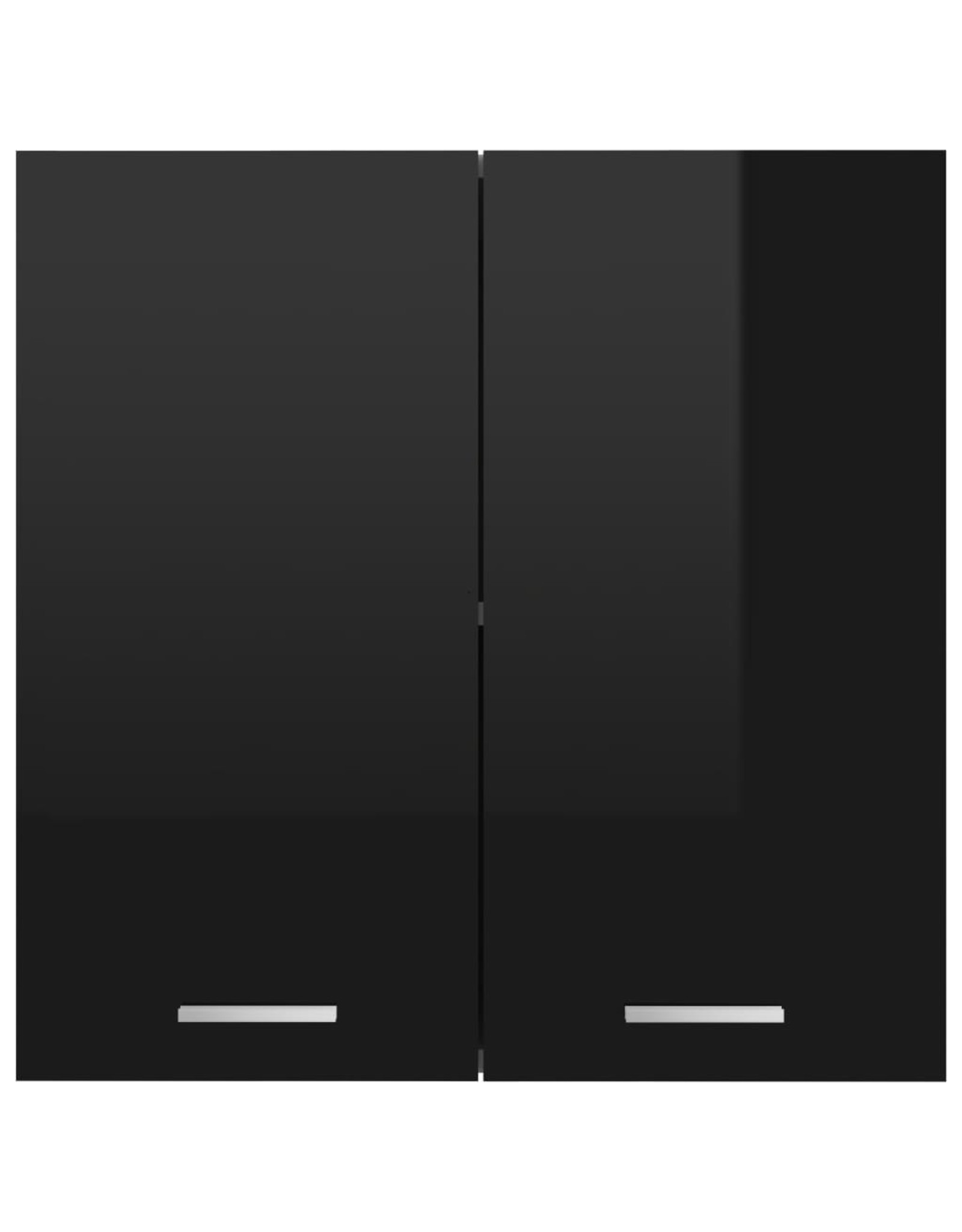 Hangkast 60x31x60 cm spaanplaat hoogglans zwart