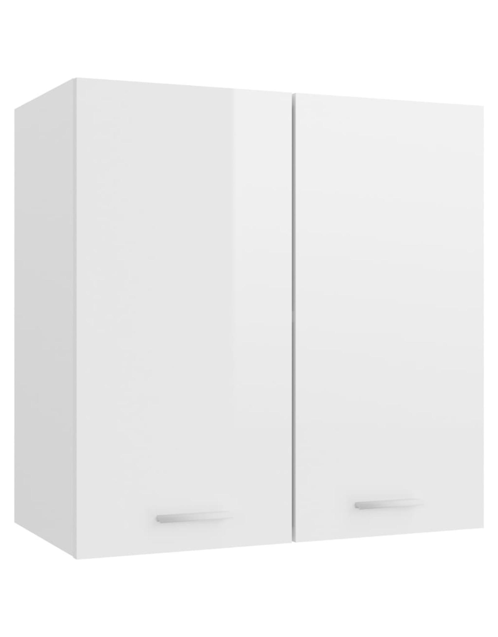 Hangkast 60x31x60 cm spaanplaat hoogglans wit