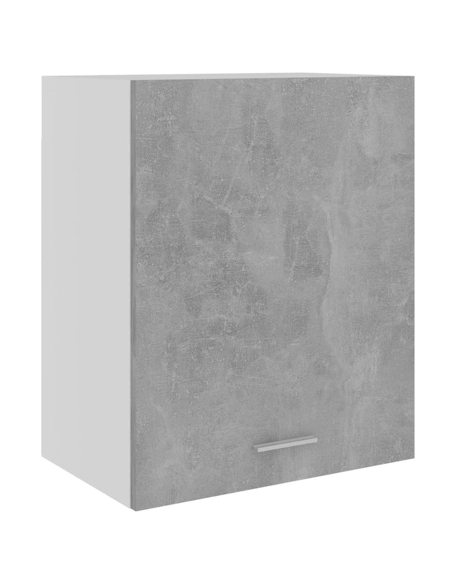 Hangkast 50x31x60 cm spaanplaat betongrijs