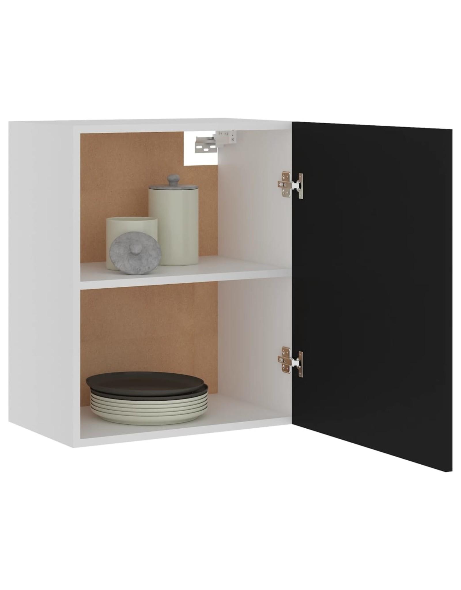 Hangkast 50x31x60 cm spaanplaat zwart