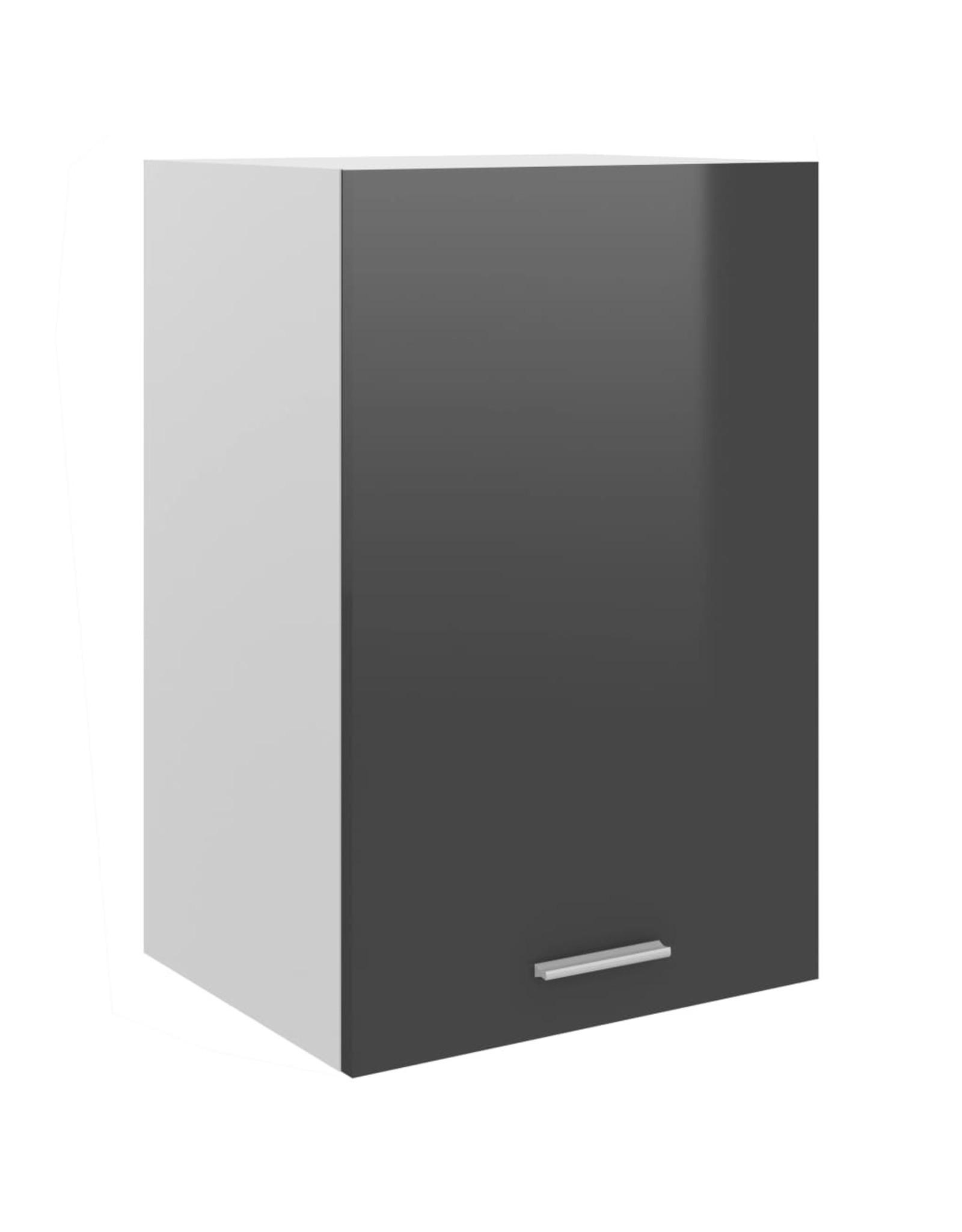 Hangkast 39,5x31x60 cm spaanplaat hoogglans grijs