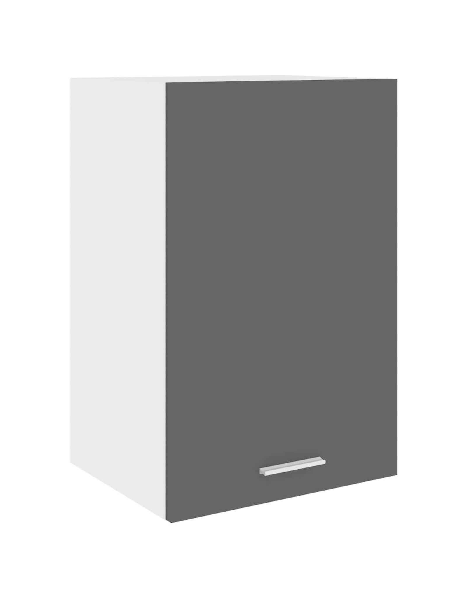 Hangkast 39,5x31x60 cm spaanplaat zwart