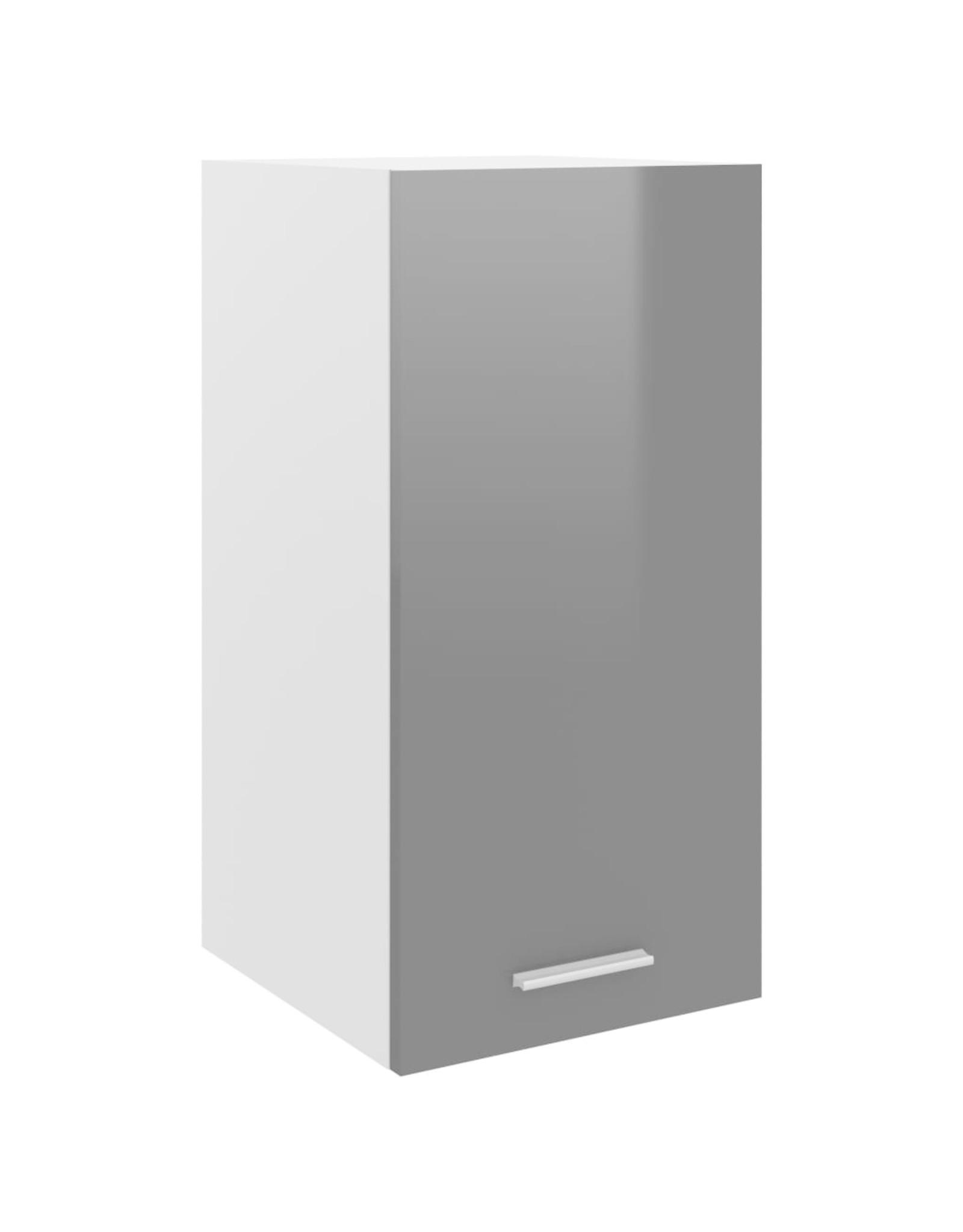 Hangkast 29,5x31x60 cm spaanplaat hoogglans grijs