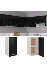 Hangkast 29,5x31x60 cm spaanplaat hoogglans zwart