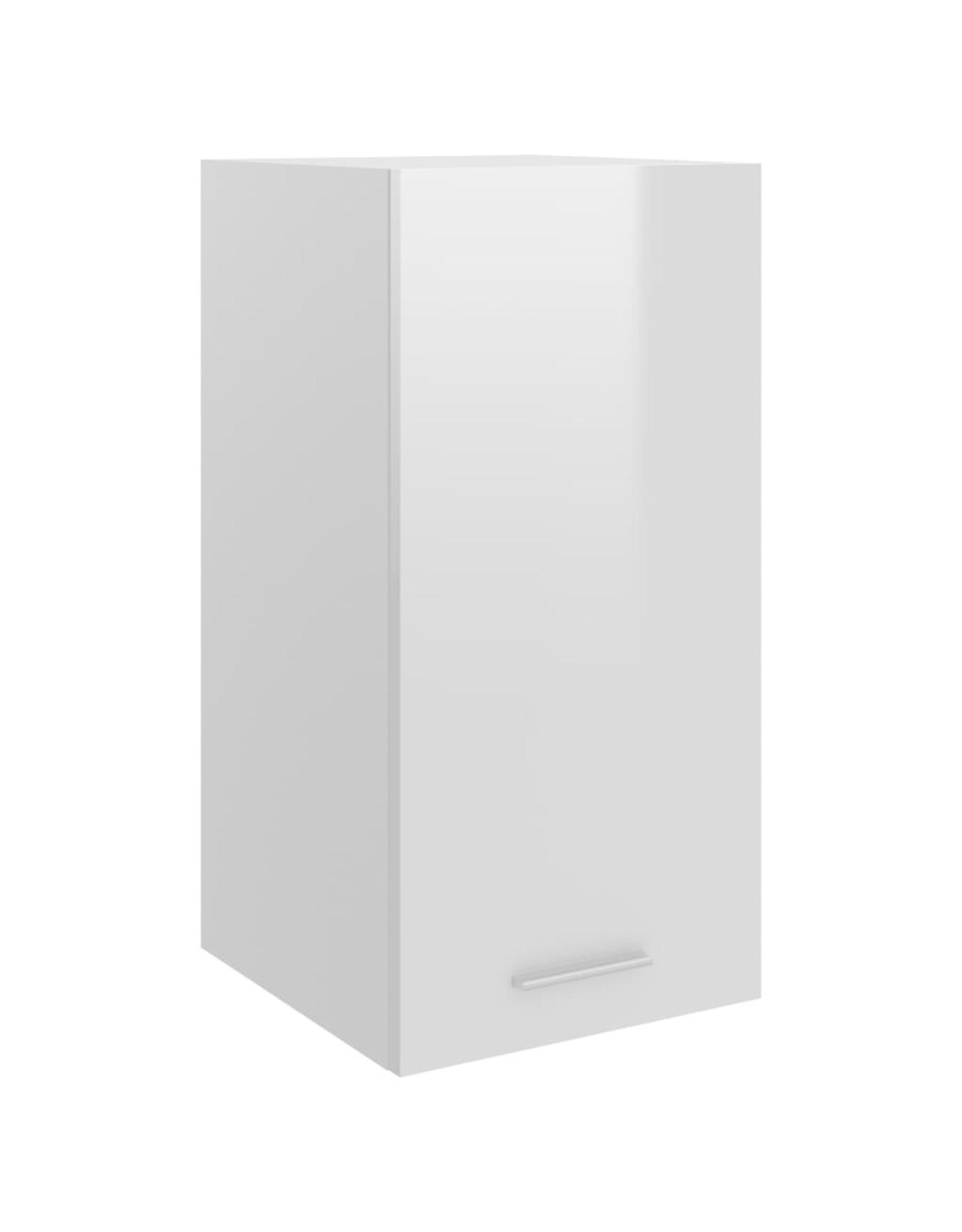 Hangkast 29,5x31x60 cm spaanplaat hoogglans wit