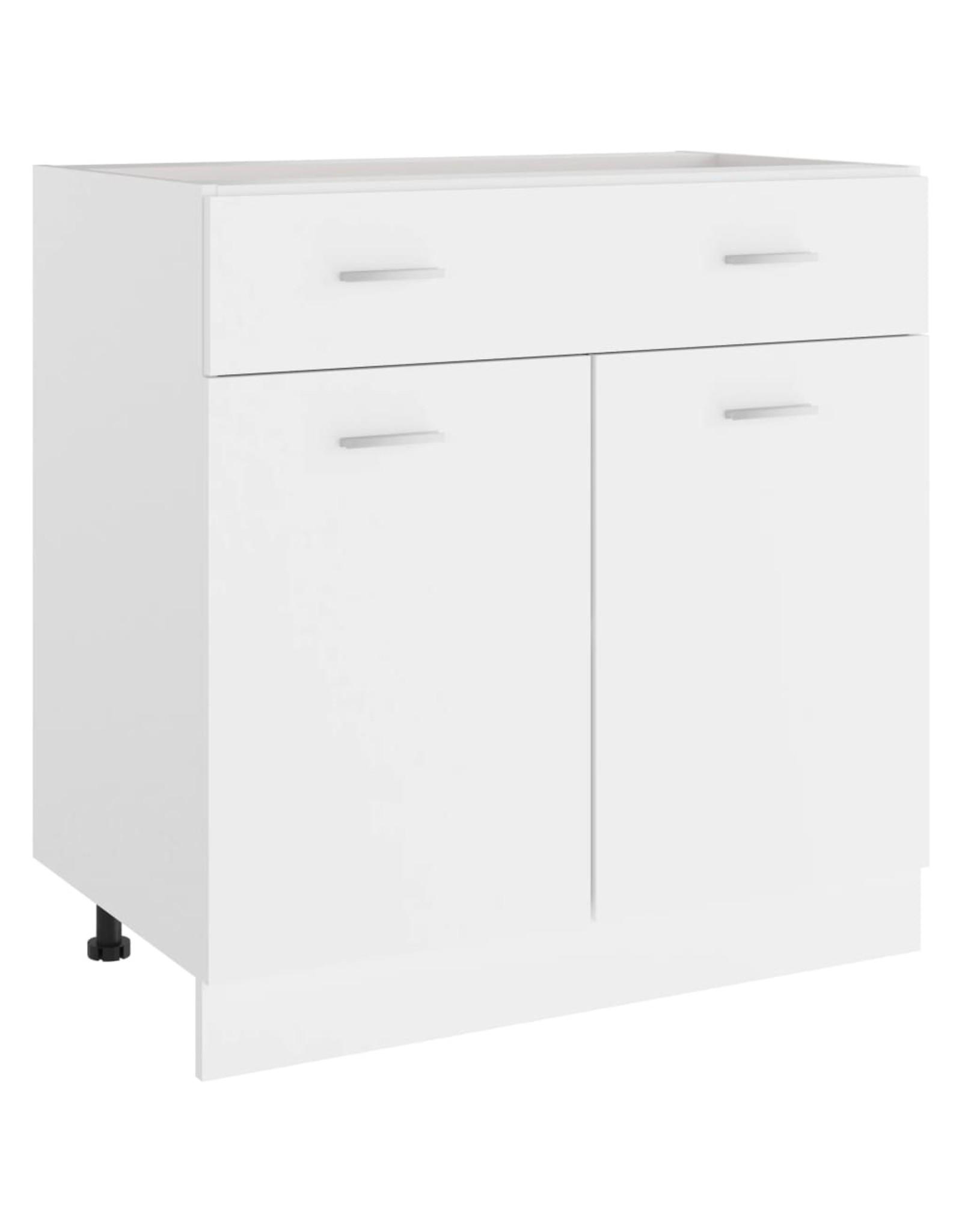 Onderkast met lade 80x46x81,5 cm spaanplaat wit